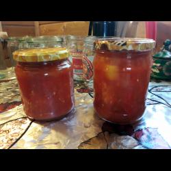 Рецепт: Лечо из томатов и болгарского перца на зиму