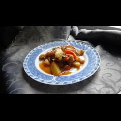 Рецепт: Овощи тушеные, сытные