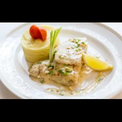Рецепт: Судак на сковороде в сметанном соусе