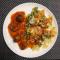 Фото Мясные шарики в томатном соусе с фарфалле