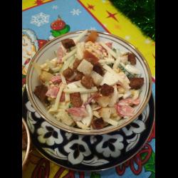 Рецепт: Салат с сыром-косичка
