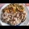 Фото Каша гречневая с овощами и брокколи