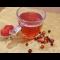 Фото Напиток из клюквы, шиповника и клубники