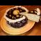 Фото Торт с творожным кремом и фруктами