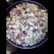 Фото Копченые свиные ребрышки с картошкой и луком жареные на сковородке