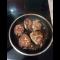 Фото Жареные котлеты из куриного фарша и говяжьего на сковородке