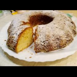 Рецепт: Бисквитный пирог с лимоном