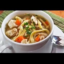 Рецепт: Суп-лапша из домашней курицы