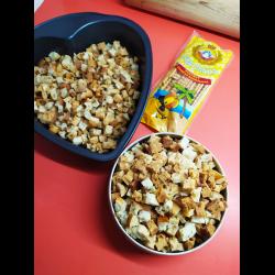 Рецепт: Кириешки из лепешек
