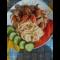 Фото Тушеное филе со спагетти