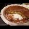 Фото Заливной пирог с яйцами, зеленым луком и мясом