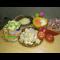 Фото Свинина с овощами и грибами в духовке