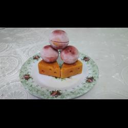 Рецепт: Вкусный сырно-клубничные шарики в желе