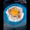 Фото Яичница с взбитым белком, семенами горчицы и орехами