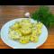 Фото Чесночная картошка с зеленью и сыром