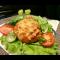 Фото Куриные котлеты под яично-овощной шубкой в духовке