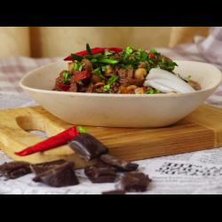 Рецепт: Чили с шоколадом и нутом