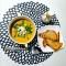 Фото Суп-пюре из красной чечевицы с плавленым сыром и зеленью