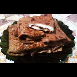 Рецепт: Творожные блинчики на какао