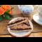 Фото Песочное печенье с бисквитной крошкой и орехами