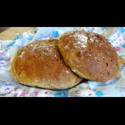 Рецепт: Ржаной хлеб на воде с семечками