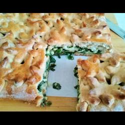 Рецепт: Сдобный пирог с луком и яйцом