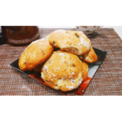 Рецепт: Мягкое печенье с фруктами