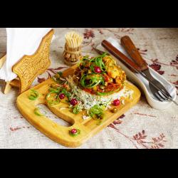 Рецепт: Хек с овощным соусом