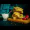 Фото Пирог-лепешка с зеленью и сыром