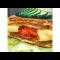 Фото Омлет -сандвич с помидорами, сыром и сырокопченой колбасой