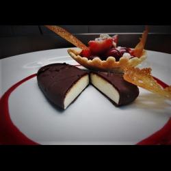 Рецепт: Пармезановое эскимо в шоколадной глазури