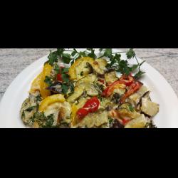 Рецепт: Овощное рагу в духовке с сыром
