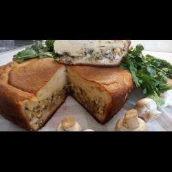 Рецепт: Заливной пирог с капустой на кефире