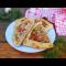 Фото Пиде с мясом, сыром, зеленью и помидором