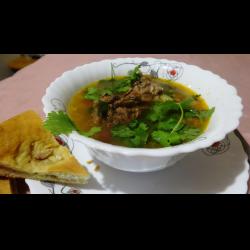 Рецепт: Фасолевый суп с крольчатиной