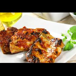 Рецепт: Жареные ребрышки с сильной ноткой кориандра и перца чили