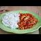 Фото Куриное рагу с помидорами и луком