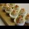 Фото Фаршированные яйца с печенью трески