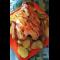 Фото Запеченный цыпленок с картошкой