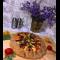 Фото Овощная сочная галета с баклажаном и моцареллой