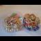 Фото Макароны с куриным гуляшом, кабачками и салатом