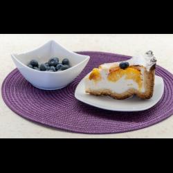 Рецепт: Творожно-персиковый пирог