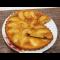 Фото Манник на ряженке с яблоками