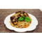 Фото Куриная печень с рисом и овощами