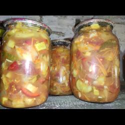 Рецепт: Овощной салат на зиму