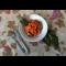 Фото Макароны с курицей, овощами и свекольной ботвой