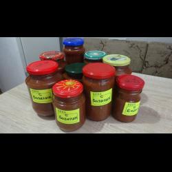 Рецепт: Домашний кетчуп с базиликом, заготовки