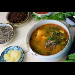 Рецепт: Серяги тя мури-корейский суп из молодой сушеной пекинской капусты