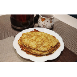 Рецепт: Тонкие блинчики из кабачка