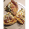 Фото Пицца Четыре сыра с колбасой и соусом Пиканта